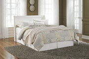Ashley Anarasia White Queen Sleigh Headboard with Bolt on Bed Frame
