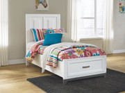 Ashley Brynburg White Twin Panel Bed