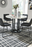 Ashley Centiar Two-tone 5 Pc.  Table & 4 Upholstered Barstools