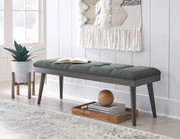 Ashley Ashlock Charcoal/Brown Accent Bench