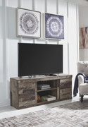 Ashley Derekson Multi Gray LG TV Stand w/Fireplace Option