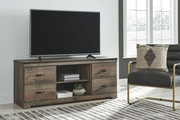 Ashley Trinell Brown LG TV Stand w/Fireplace Option