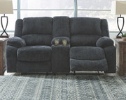 Ashley Draycoll Slate Double Rec Loveseat w/Console