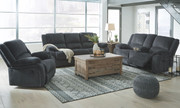 Ashley Draycoll Slate Reclining Sofa, Double Reclining Loveseat with Console & Rocker Recliner