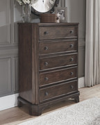 Ashley Adinton Brown Five Drawer Chest