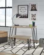 Ashley Blariden Brown/Black Desk w/Bench