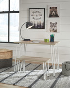 Ashley Blariden Brown/White Desk w/Bench