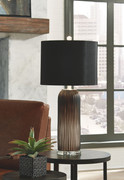 Ashley Abaness Black Glass Table Lamp (2/CN)
