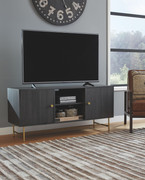 Ashley Yarlow Black Large TV Stand