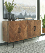 Ashley Prattville Brown Accent Cabinet