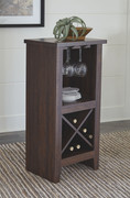 Ashley Turnley Brown Wine Cabinet