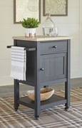Ashley Boderidge Black Bar Cart