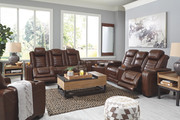 Ashley Backtrack Chocolate 4 Pc.- Power Reclining Sectional, Power Recliner with Adjustable Headrest
