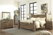 Ashley Trinell Brown 8 Pc. Dresser, Mirror, King Poster Bed & 2 Nightstands