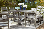 Ashley Visola Gray 7 Pc. Dining Set with 6 Chairs