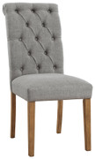 Ashley Harvina Gray Dining Upholstered Side Chair