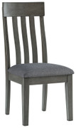 Ashley Hallanden Two-tone Gray Dining Upholstered Side Chair