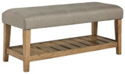 Ashley Cabellero Light Beige/Brown Upholstered Accent Bench