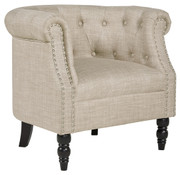Ashley Deaza Beige Accent Chair