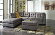 Ashley Maier Charcoal 3 Pc. Left Arm Facing Corner Chaise, Right Arm Facing Sofa Sectional, Accent Ottoman