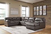 Ashley Aberton Gray Sectional with Chaise