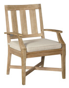 Ashley Clare View Beige Arm Chair With Cushion (2/CN)