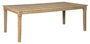 Ashley Clare View Beige Rectangular Dining Table w/UMB OPT