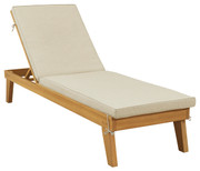 Ashley Byron Bay Light Brown Chaise Lounge with Cushion