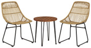 Ashley Coral Sand Light Brown/Black Chairs w/Table Set (3/CN)