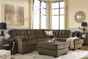 Ashley Accrington Earth Left Arm Facing Sofa/Couch, Right Arm Facing Corner Chaise Sectional & Accent Ottoman