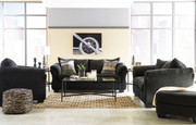 Ashley Darcy Black Sofa/Couch, Loveseat, Chair, Ottoman & Augeron Table Set