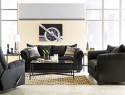 Ashley Darcy Black Sofa/Couch, Loveseat, Rocker Recliner & Augeron Table Set