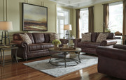 Ashley Breville Espresso Sofa/Couch, Loveseat & Rocker Recliner