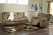 Ashley Tulen Mocha Reclining Sofa/Couch & Reclining Loveseat