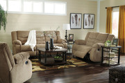 Ashley Tulen Mocha Reclining Sofa/Couch, Reclining Loveseat & Rocker Recliner