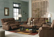 Ashley Tulen Chocolate Reclining Sofa/Couch, Reclining Loveseat & Rocker Recliner