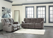 Ashley Tulen Gray Reclining Sofa/Couch & Reclining Loveseat