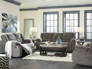 Ashley Tulen Gray Reclining Sofa/Couch, Reclining Loveseat & Rocker Recliner