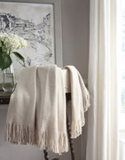 Ashley Haiden Ivory/Taupe Throw