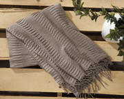 Ashley Mendez Taupe Throw