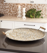 Didina Cream/Gold Finish Tray
