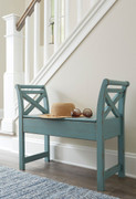Heron Ridge Blue Accent Bench