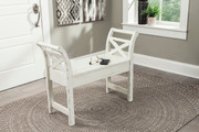 Ashley Heron Ridge White Accent Bench