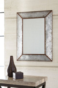 Ashley O'Tallay Antique Gray Accent Mirror