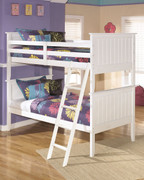 Ashley Lulu White Bunk Bed (twin/twin)