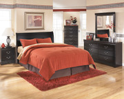 Ashley Huey Vineyard Black Dresser & Mirror