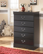 Ashley Huey Vineyard Black Five Drawer Chest