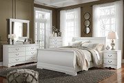 Ashley Anarasia White 6 Pc. Dresser, Mirror, Queen Sleigh Bed & Nightstand