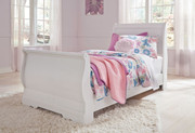 Ashley Anarasia White Twin Sleigh Bed