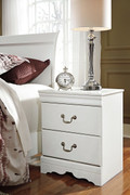 Ashley Anarasia White Two Drawer Night Stand